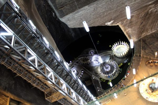 Turda spectacular Salt Mine-seen in our Romania Vacation Packages