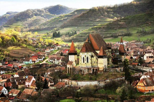 Biertan fortified church seen in private Transylvania Dracula tours