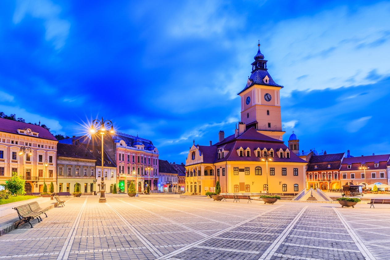 Brasov seen in Vampire in Transylvania Dracula tour and Best of Romania tours