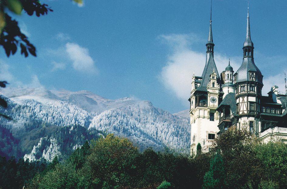Peles castle seen in Vampire in Romania Dracula tour