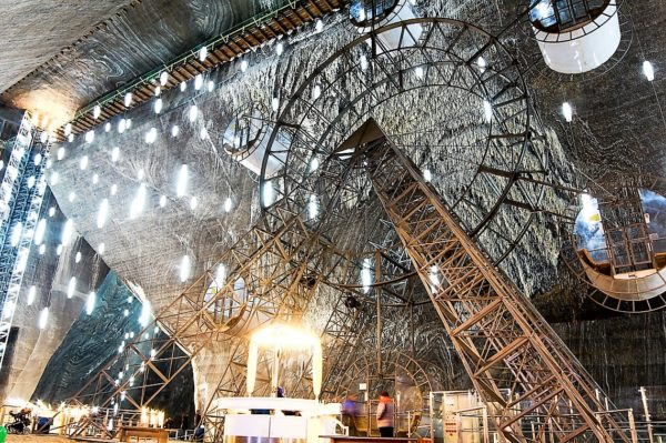 Turda Salt Mine seen in Dracula tours and Best of Romania tours
